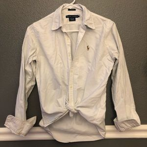 Ralph Lauren white classic button down shirt